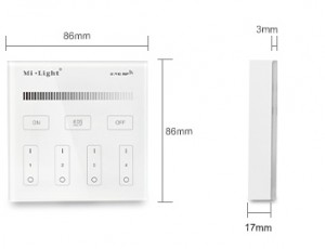 4-Zone Brightness Dimming Smart Panel Remote Controller