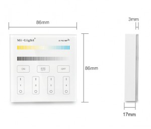 4-Zone CCT Adjust Smart Panel Remote Controller