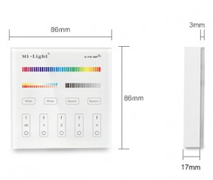4-Zone RGB + CCT Smart Panel Remote Controller
