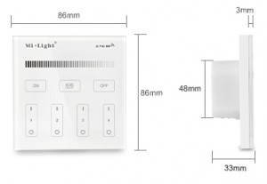 4-Zone Helderheid Dimming Smart Panel Remote Controller