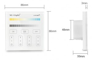4-Zone CCT Stel Smart Panel Remote Controller