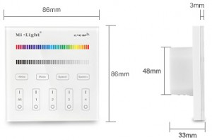 4-Zone RGB / RGBW Smart Panel Remote Controller