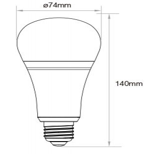 12W RGB + CCT LED-lamp